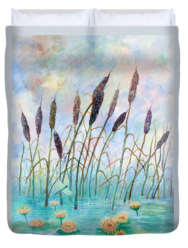 Pond Duvet Cover featuring the painting Joy Of Summer by Ben Kiger