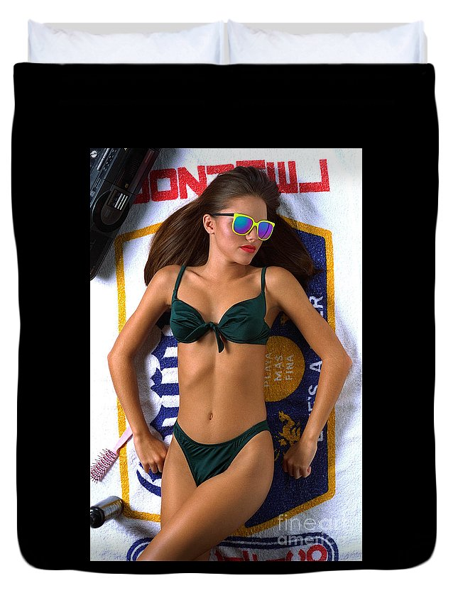 Model Duvet Cover featuring the photograph Julie Corona by Gary Gingrich Galleries