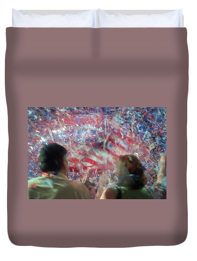july Fourth Duvet Cover featuring the photograph July Fourth Finale by Barbara McDevitt