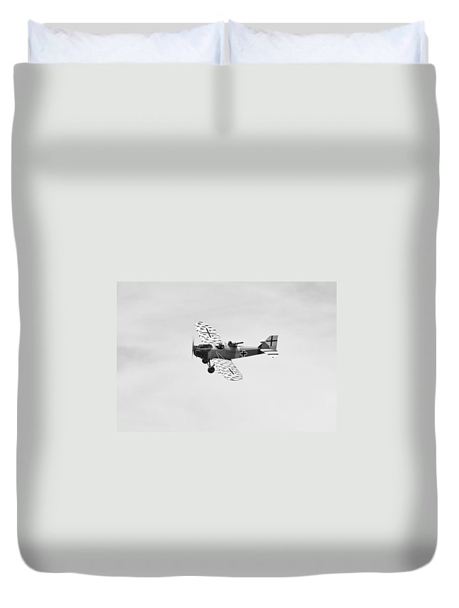 Vintage Duvet Cover featuring the photograph Junkers Cl1 by Maj Seda