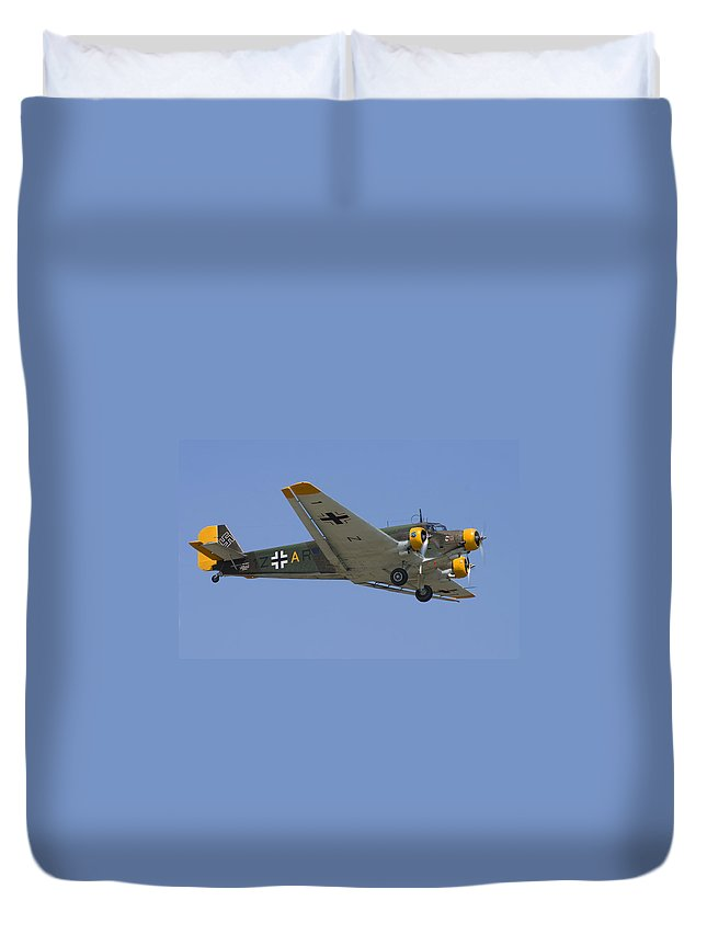 3scape Duvet Cover featuring the photograph Junkers Ju-52 by Adam Romanowicz