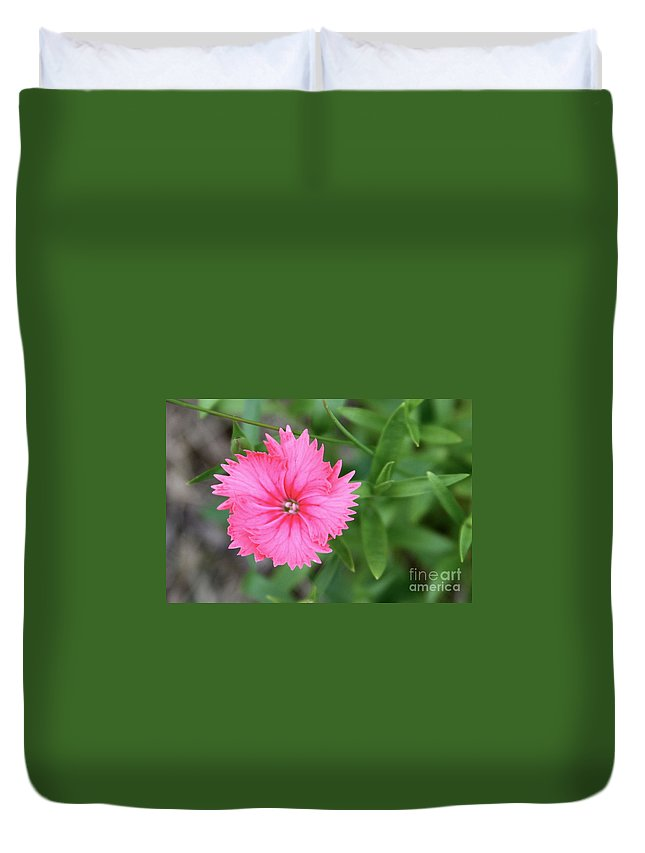 Flower Duvet Cover featuring the photograph Just A Flower by Rick Monyahan