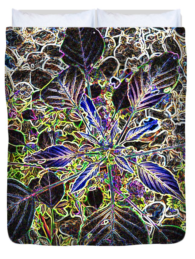 Weed Duvet Cover featuring the digital art Just A Weed					 by Lovina Wright