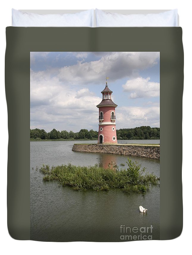 Lighthouse Duvet Cover featuring the photograph Just For Fun by Christiane Schulze Art And Photography