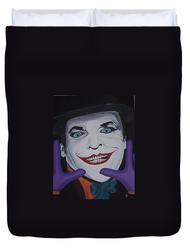 Colorful Duvet Cover featuring the painting Just Jack by Dean Stephens