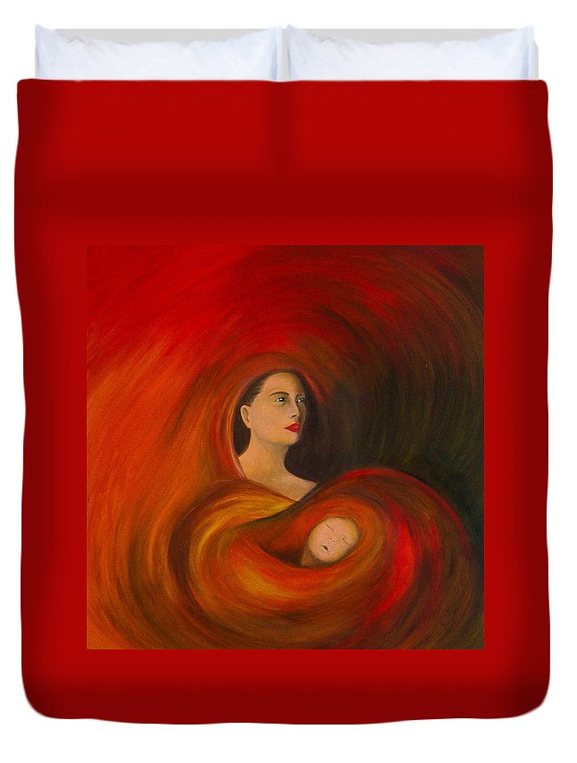 Verve Duvet Cover featuring the painting ..just Love.. by Fanny Diaz
