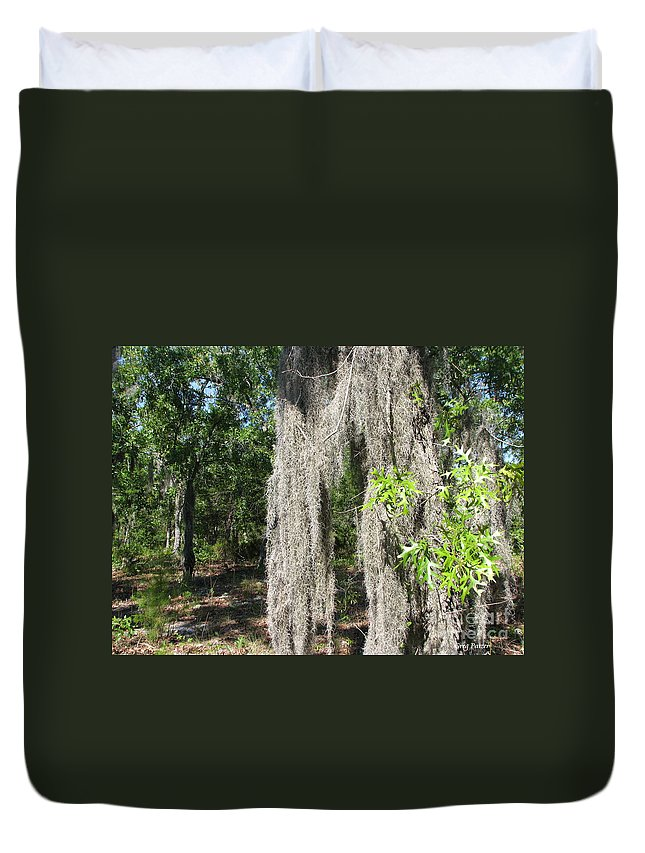 Patzer Duvet Cover featuring the photograph Just The Backyard by Greg Patzer