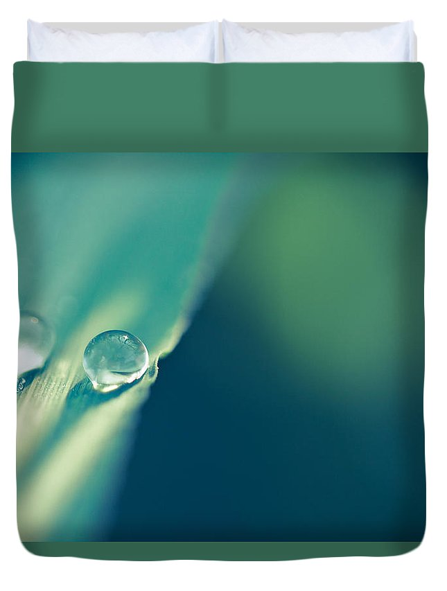 Droplets Duvet Cover featuring the photograph Just The Two Of Us by Shane Holsclaw