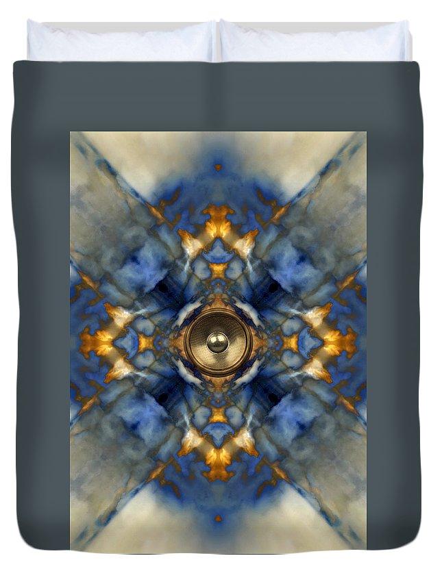 Blue Duvet Cover featuring the digital art Kaleido 1 by Steve Ball