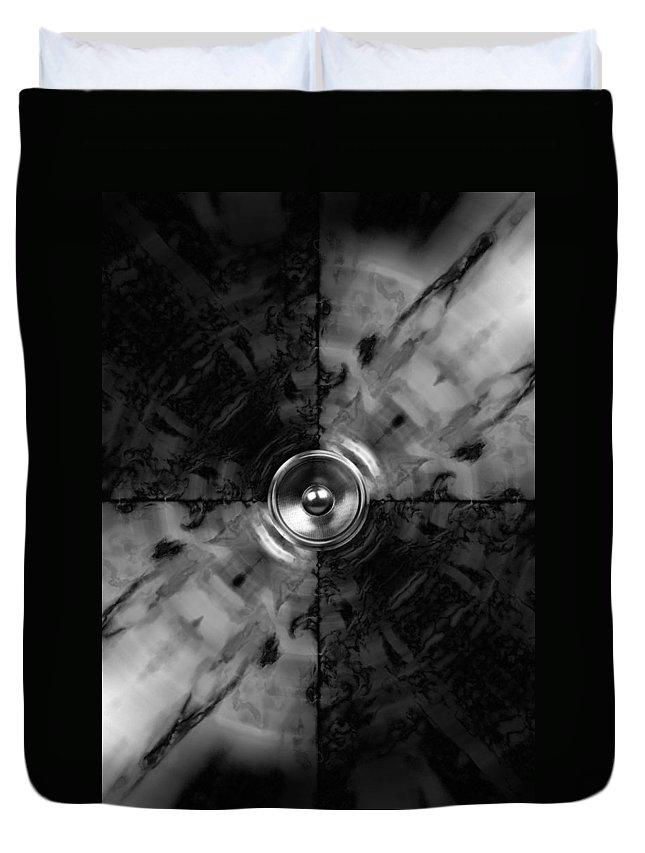 Audio Duvet Cover featuring the digital art Kaleido 5 by Steve Ball