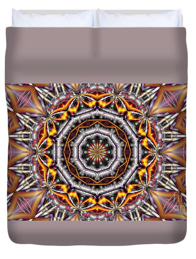 Kaleidoscope Duvet Cover featuring the digital art Kaleidoscope 41 by Ron Bissett