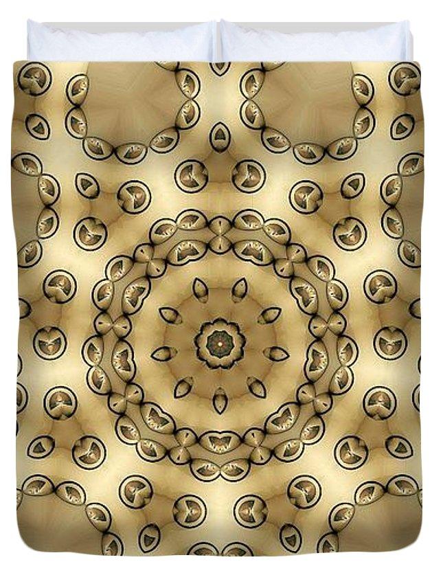Kaleidoscope Duvet Cover featuring the digital art Kaleidoscope 55 by Ron Bissett