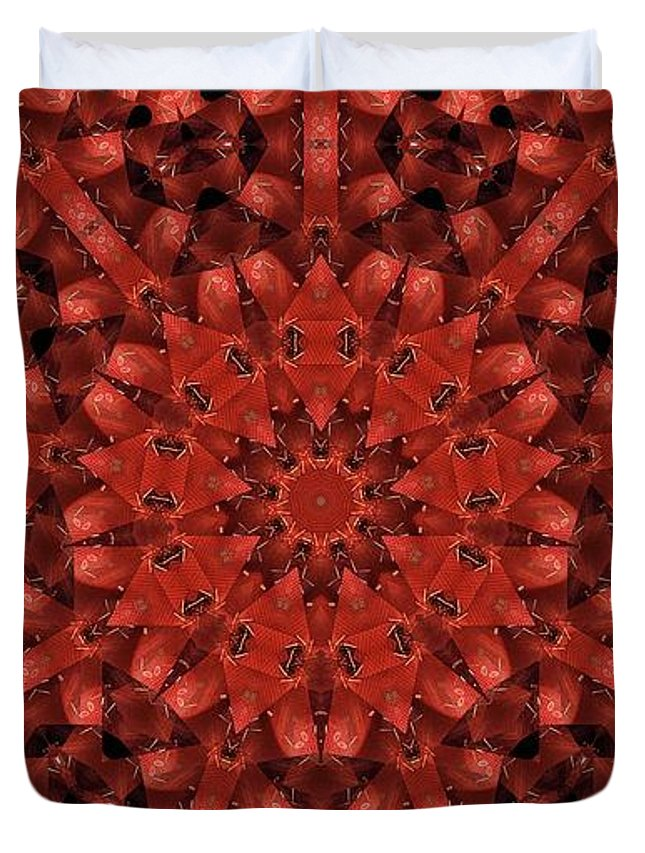 Kaleidoscope Duvet Cover featuring the photograph Kaleidoscope 60 by Ron Bissett
