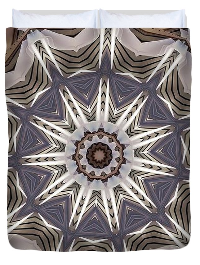 Kaleidoscope Duvet Cover featuring the digital art Kaleidoscope 64 by Ron Bissett