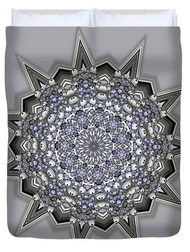 Kaleidoscope Duvet Cover featuring the digital art Kaleidoscope 69 by Ron Bissett