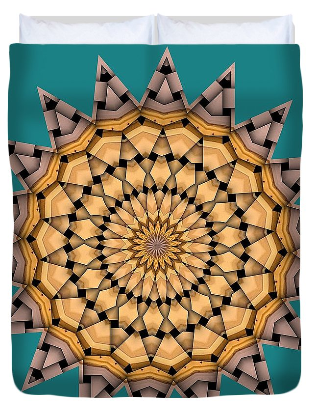 Kaleidoscope Duvet Cover featuring the digital art Kaleidoscope 7 by Ron Bissett