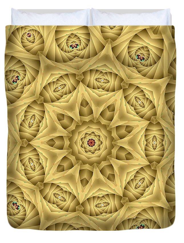 Kaleidoscope Duvet Cover featuring the digital art Kaleidoscope 76 by Ron Bissett