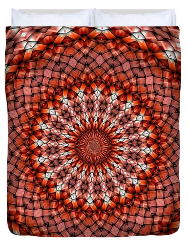 Kaleidoscope Duvet Cover featuring the digital art Kaleidoscope 8 by Ron Bissett