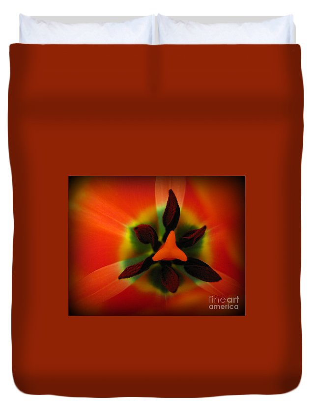 Flower Duvet Cover featuring the photograph Kaleidoscope by C Ray Roth