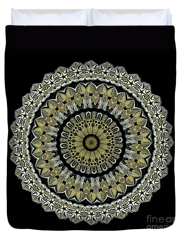 Ernst Haeckel Duvet Cover featuring the photograph Kaleidoscope Ernst Haeckl Sea Life Series Steampunk Feel by Amy Cicconi