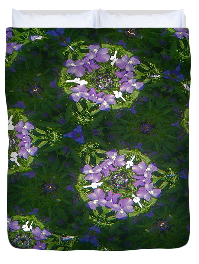 Kaleidoscope Duvet Cover featuring the photograph Kaleidoscope Violets by April Patterson