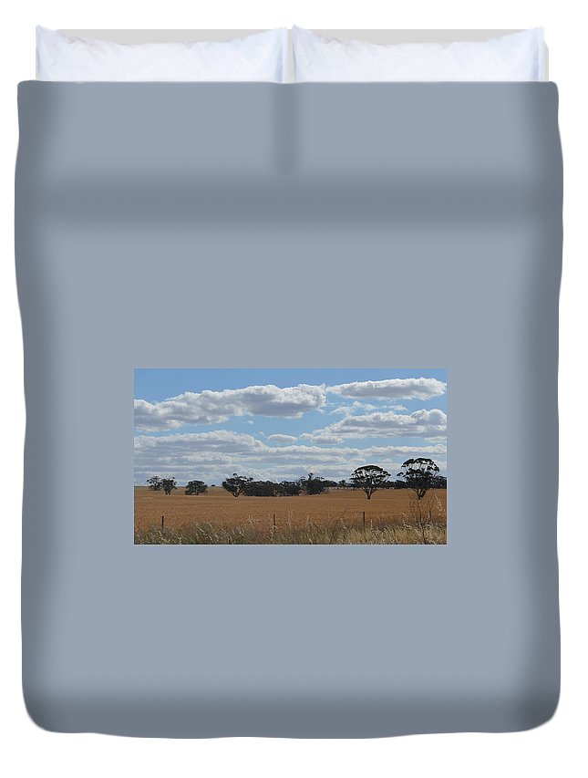 Outback Duvet Cover featuring the photograph Kalgoorlie Countryside by Cheryl Miller