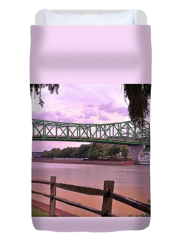 Kanawha River Duvet Cover featuring the photograph Kanawha River by Lydia Holly