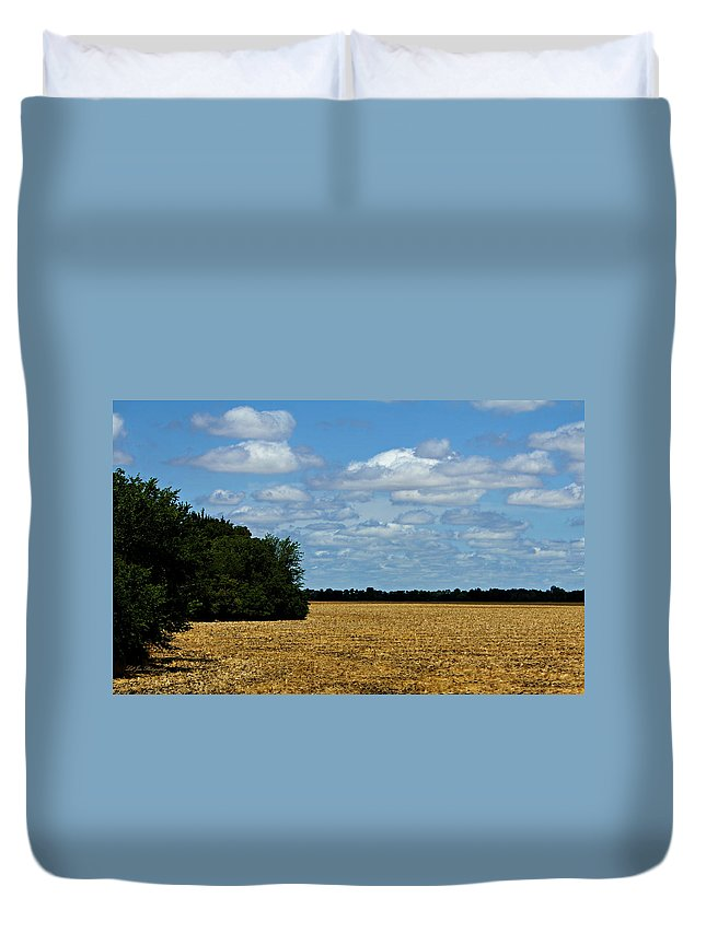 Field Duvet Cover featuring the photograph Kansas Fields by Jeanette C Landstrom