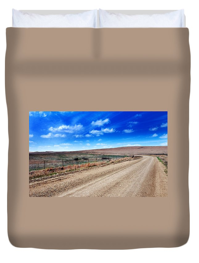 Road Duvet Cover featuring the photograph Spring Training by Eric Benjamin