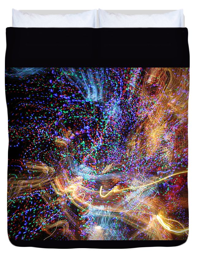 Abstract Duvet Cover featuring the photograph Kapow by Ric Bascobert