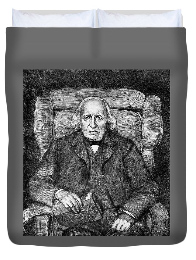 19th Century Duvet Cover featuring the drawing Karl Theodor Weierstrass (1815-1897) by Granger