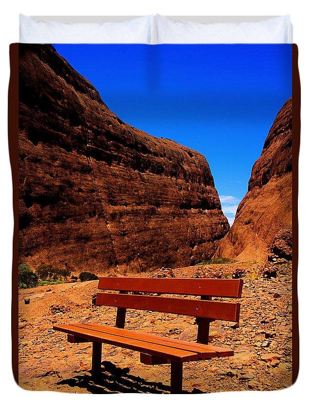 Kings Canyon Duvet Cover featuring the photograph Kata Tjuta by Douglas Barnard