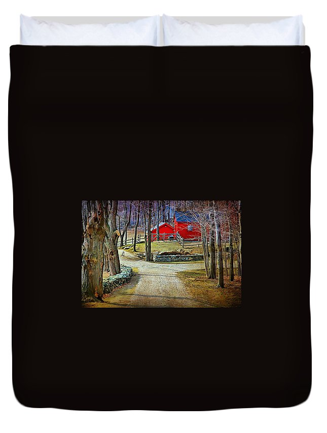 Landscape Duvet Cover featuring the photograph Keep Out by Diana Angstadt
