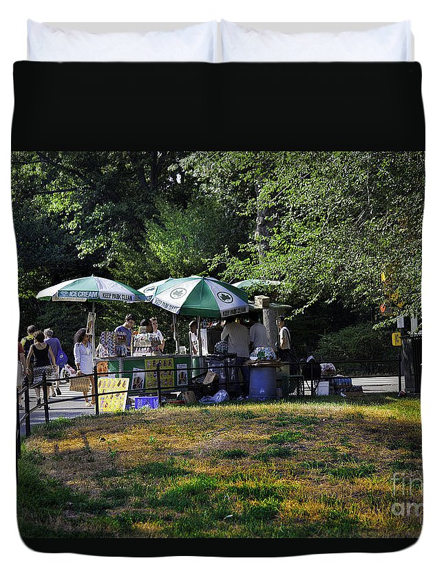 Central Park Duvet Cover featuring the photograph Keep Park Clean by Madeline Ellis