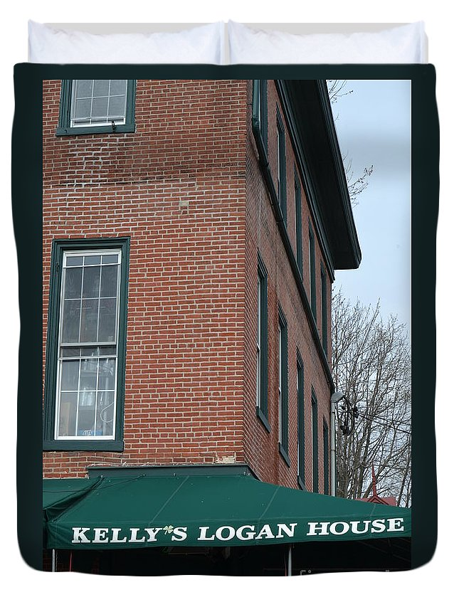 Kelly's Logan House Duvet Cover featuring the photograph Kelly's Logan House Wilmington De by Heather Jane