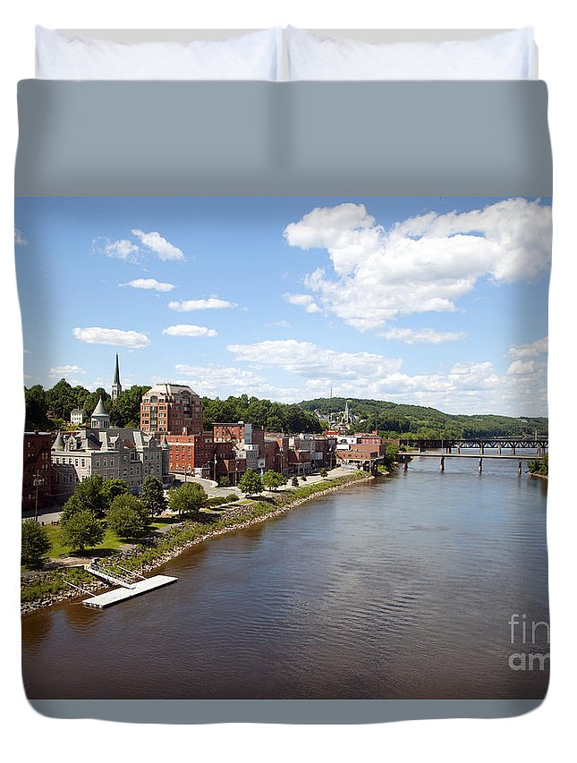 Kennebec River Duvet Cover featuring the photograph Kennebec River by Bill Cobb