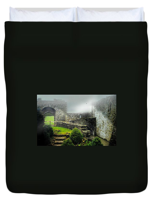 Leeds Castle Duvet Cover featuring the photograph Kent England by Diana Angstadt