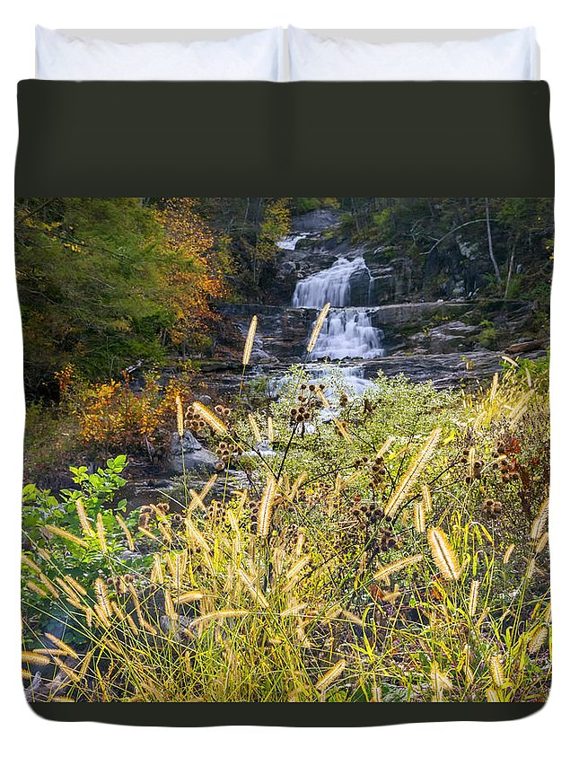 Kent Falls Duvet Cover featuring the photograph Kent Falls by Bill Wakeley