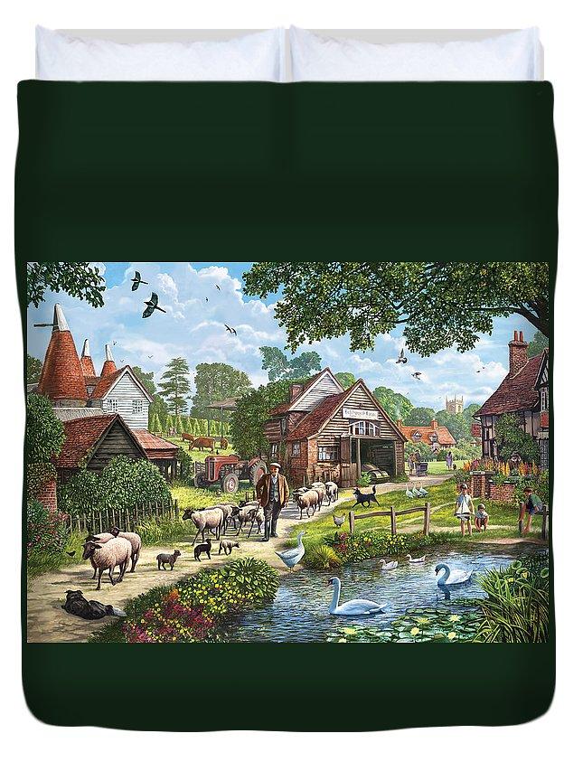 Steve Crisp Duvet Cover featuring the photograph Kentish Farmer by Steve Crisp