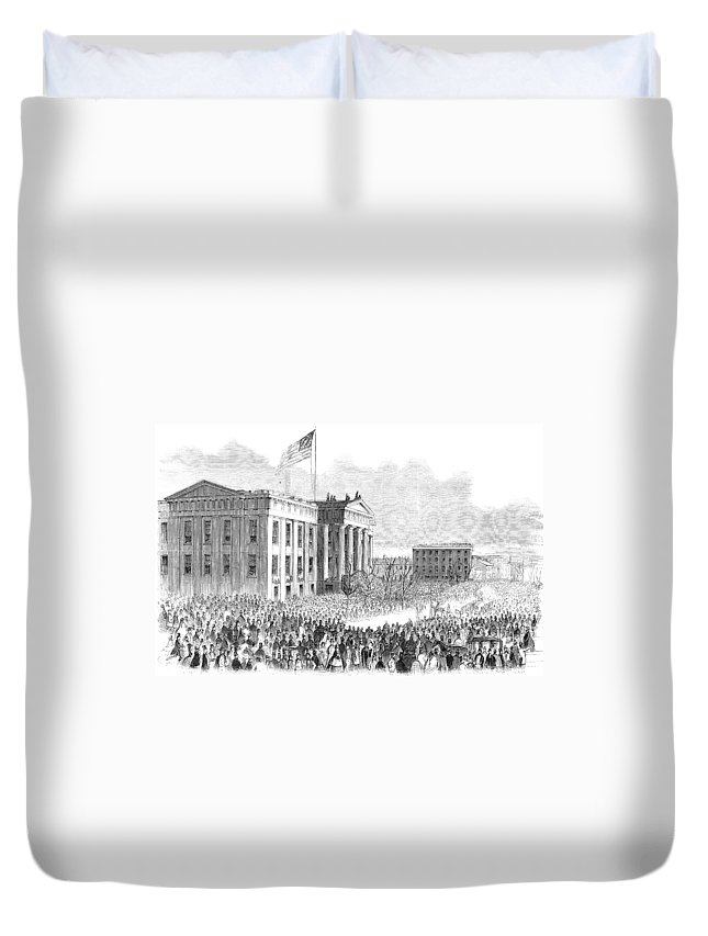 1861 Duvet Cover featuring the painting Kentucky Louisville, 1861 by Granger