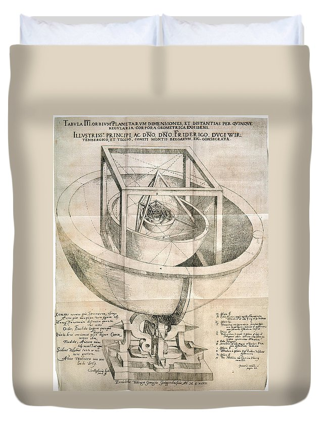 1596 Duvet Cover featuring the photograph Keplers Universe, 1596 by Granger
