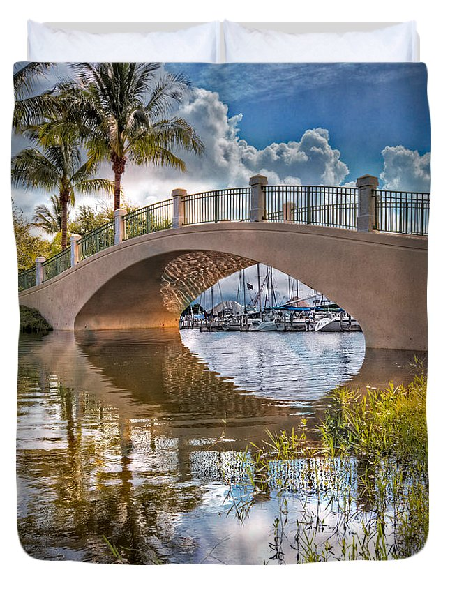Boats Duvet Cover featuring the photograph Keyhole by Debra and Dave Vanderlaan