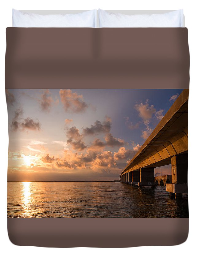 Florida Duvet Cover featuring the photograph Keys by Chad Dutson