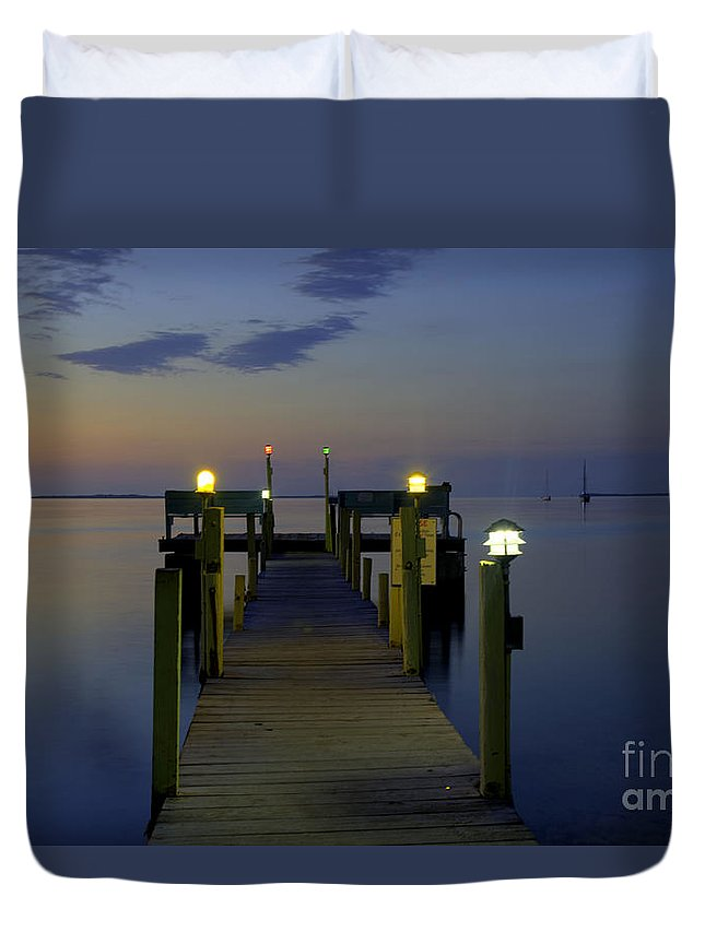 Florida Duvet Cover featuring the photograph Keys Sunset by Bruce Bain