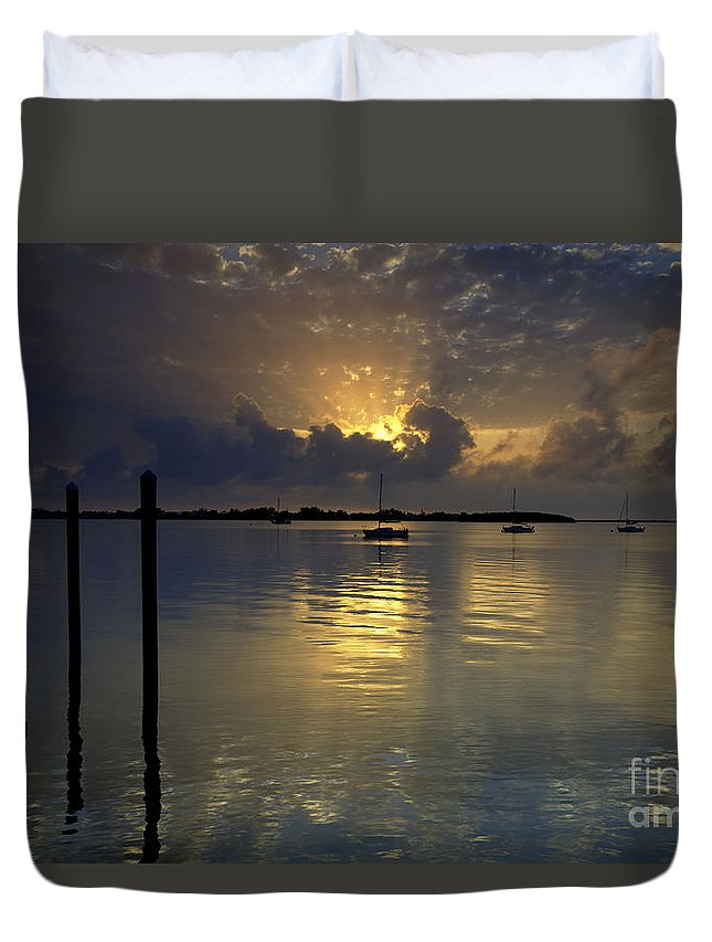 Florida Duvet Cover featuring the photograph Keys Sunset IIi by Bruce Bain