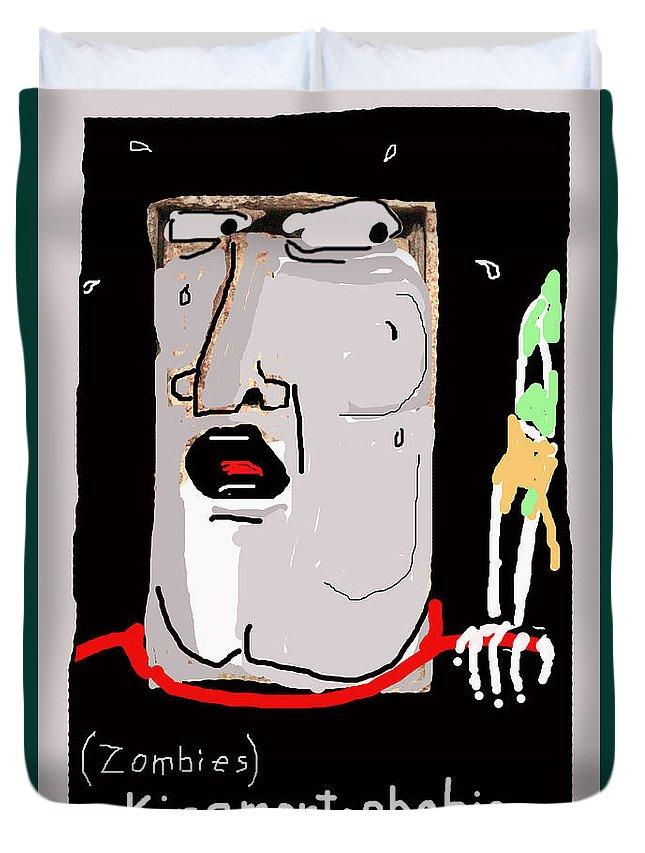 Fear Of Zombies.zombie Phobia Duvet Cover featuring the photograph Kinemortophobia by Joe Jake Pratt