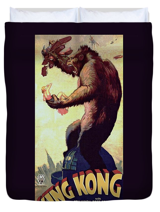 King Kong Duvet Cover featuring the photograph King Kong by Movie Poster Prints