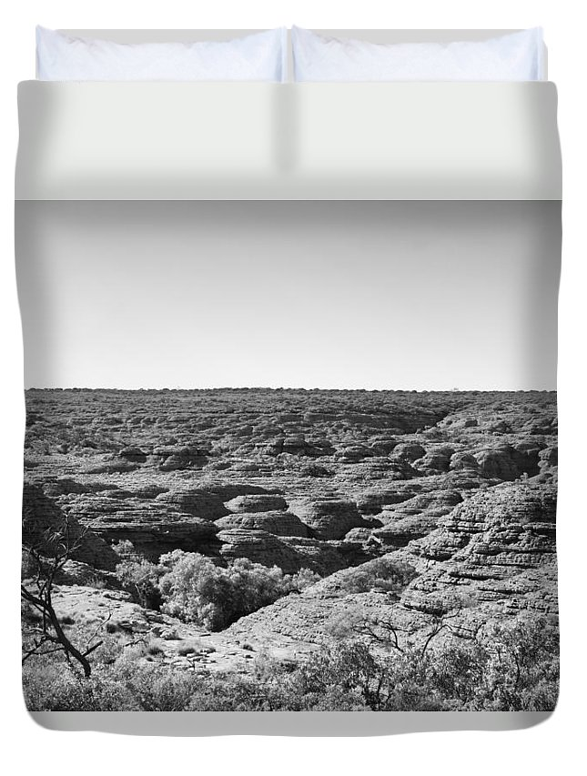 Kings Canyon Duvet Cover featuring the photograph Kings Canyon Black And White by Douglas Barnard