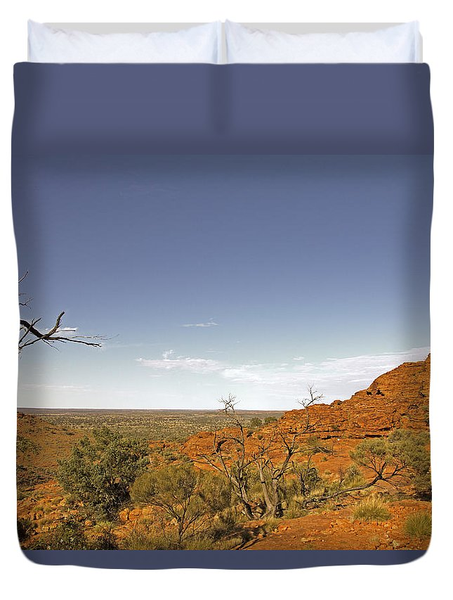 Kings Canyon Duvet Cover featuring the photograph Kings Canyon-the Rim by Douglas Barnard