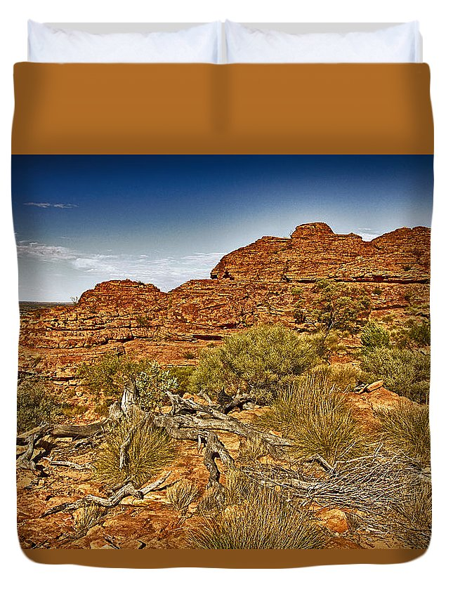 Kings Canyon Duvet Cover featuring the photograph Kings Canyon-the Rim V2 by Douglas Barnard